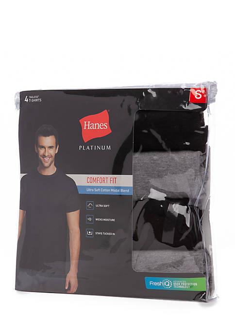 Hanes® 4-Pack Modal Crew Undershirts