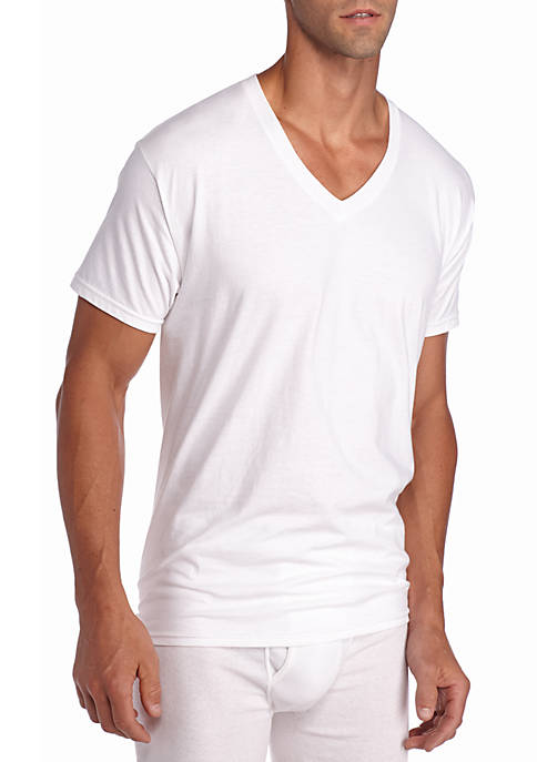 Hanes® Platinum X-Temp V-Neck T-Shirt 4-Pack
