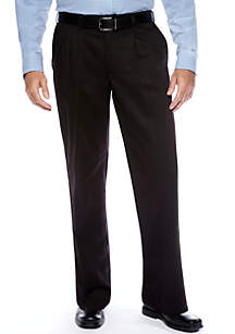 Big & Tall Relaxed Custom Comfort Fit Pleated Wrinkle Resistant Pants