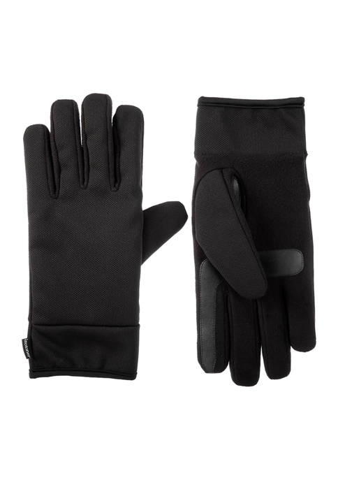 isotoner Men's Lined Water Repellent Tech Stretch Gloves