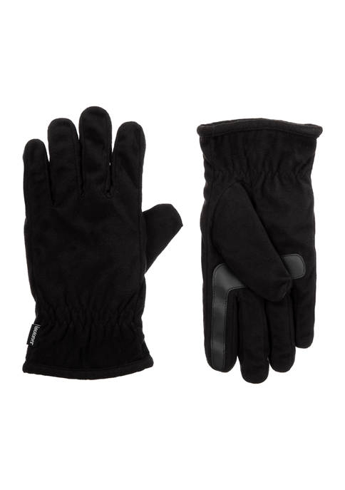 isotoner Men's Lined Recycled Microsuede 3 Draw Gloves