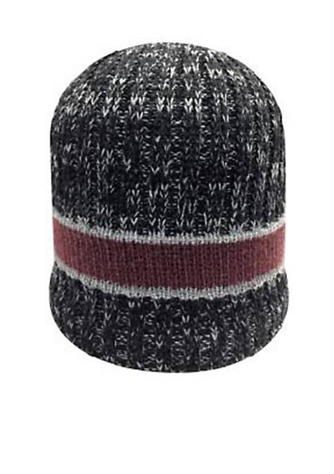 Marled Stripe Beanie Hat