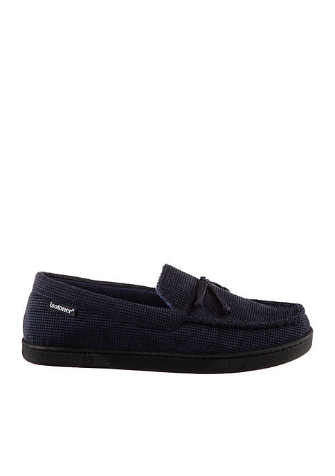 isotoner Mini Box Cord Luke Moccasin with Lacing