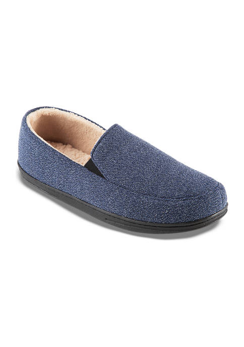 isotoner Mens Peyton Closed Back Slippers with Memory