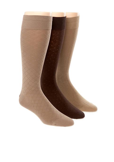 3-Pack Assorted Dress Socks