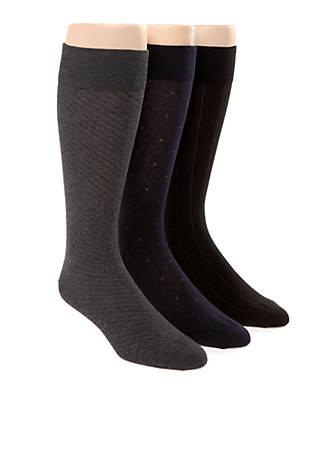 Polo Ralph Lauren 3-Pack Assorted Dress Socks  036efafe613f