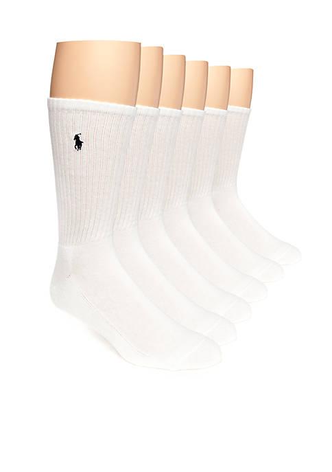Polo Ralph Lauren 6-Pack Rib Crew Socks