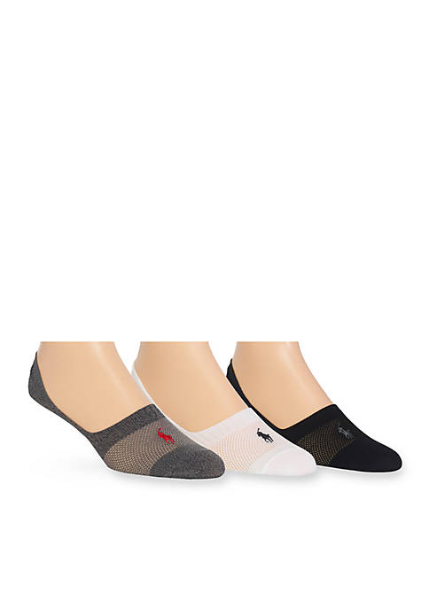 Polo Ralph Lauren 3-Pack Technical Liner Socks