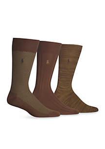 Supersoft Birdseye Trouser Socks - 3 Pack