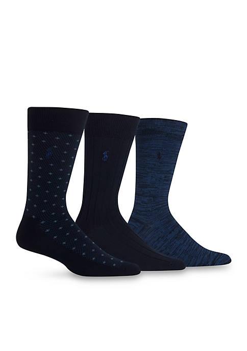 Supersoft Diamond Dot Neat Trouser Socks - 3 Pack