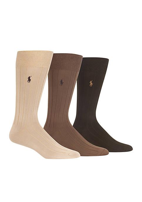 Set of 3 Supersoft Rib Socks