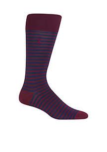 Mercerized Tonal Stripe Socks