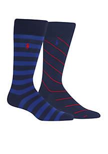 2-Pack Rugby & Rep Stripe Socks