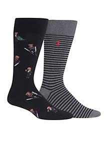 Set of 2 Holiday Bears Socks