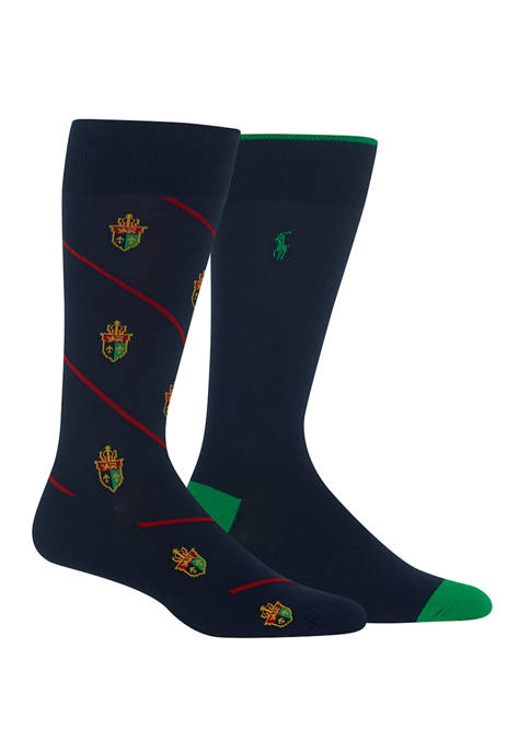 Polo Ralph Lauren Bias Crest Slack 2-Pack Socks
