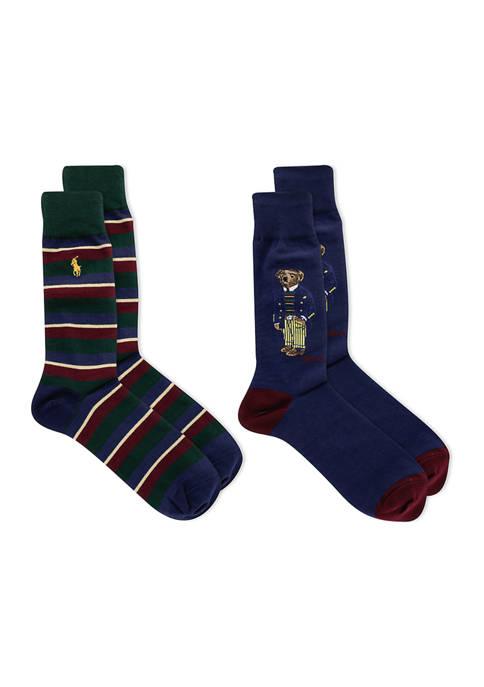 Boston Commons Bear Socks - 2 Pack