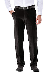 Classic-Fit Stretch Corduroy Flat-Front Pants