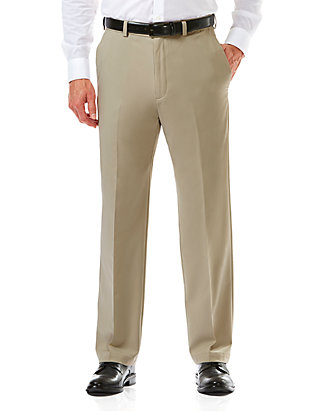 8166a9209c70b4 Haggar® Cool 18 Pro Classic Fit Flat Front Hidden Expandable Waistband  Pants ...