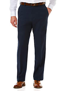 Haggar® Cool 18 Pro Classic Fit Flat Front Hidden Expandable Waistband Pants