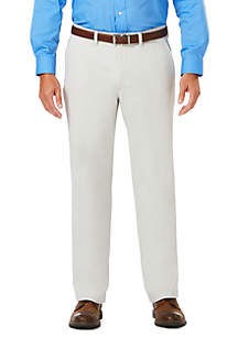 Haggar® Luxury Comfort Chino Classic Fit Flat Front Casual Pants