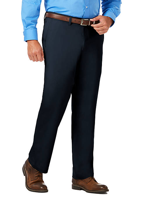 Haggar® Luxury Comfort Chino Classic Fit Flat Front