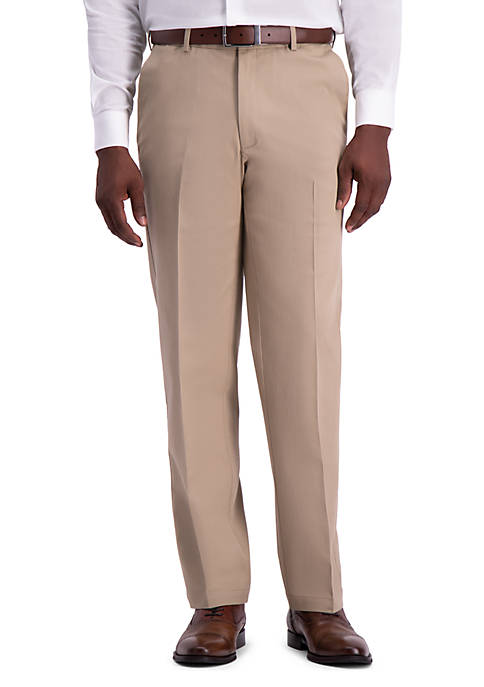Work To Weekend PRO Classic Fit Flat Front Casual Pants