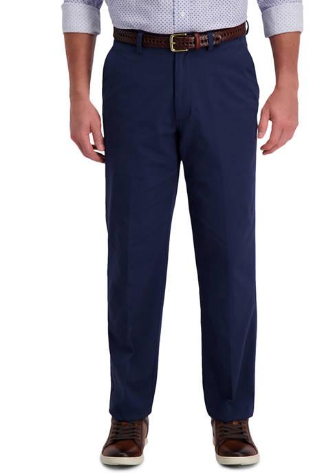 Haggar® Mens Motion Khaki Classic Fit Flat Front