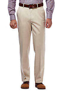 Haggar® Premium Stretch No Iron Khaki Classic Fit Flat Front Pants