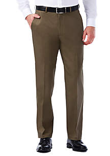Haggar® Premium Stretch No Iron Khaki Classic Fit Hidden Expandable Waistband Flat Front Pants