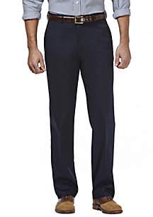 Premium Stretch No Iron Khaki Classic Fit Flat Front Pants