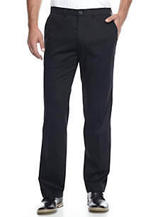Haggar® Premium Stretch No Iron Khaki Straight Fit Flat Front Pants