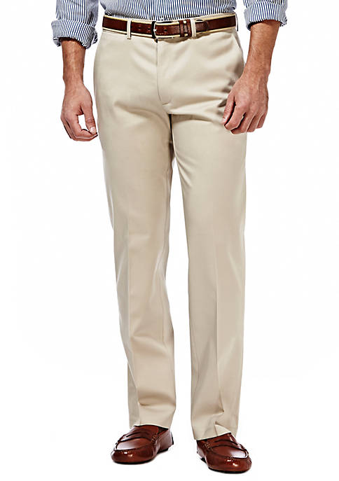 Haggar® Premium Stretch No Iron Khaki Straight Fit