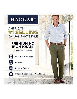 Haggar Mens Premium Stretch Dress Pant