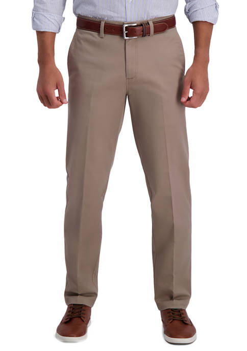 Haggar® Mens Premium Comfort Khaki Flat Front Straight