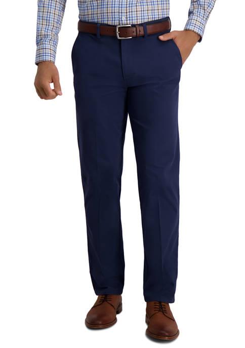 Haggar® Mens Motion Khaki Straight Fit Flat Front