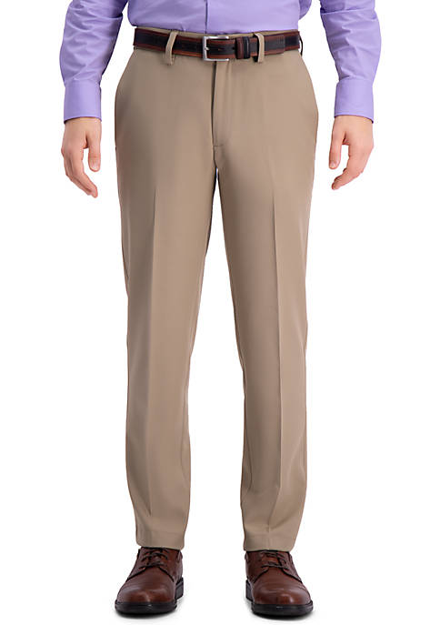 Slim Fit Premium Flex Waistband Flat Front Pants