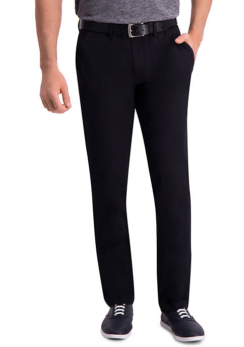 Premium Comfort Slim Fit Flat Front Khaki Pants