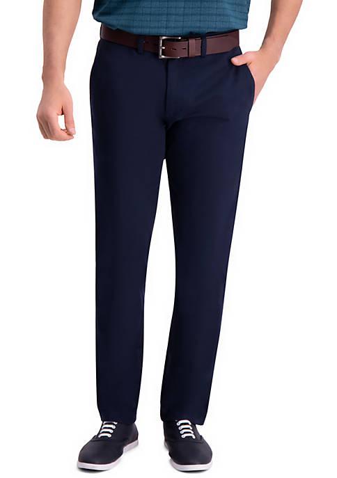 Haggar® Premium Comfort Slim Fit Flat Front Khaki