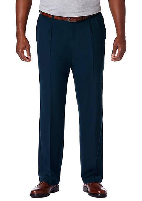 Big & Tall Haggar® Cool 18 PRO Classic Fit Pleated Pants