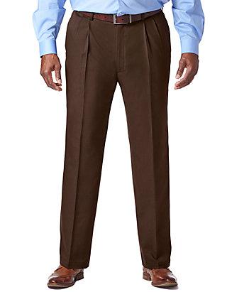 74ce7065 Haggar® Big & Tall Cool 18 PRO Classic Fit Pleat Pants   belk