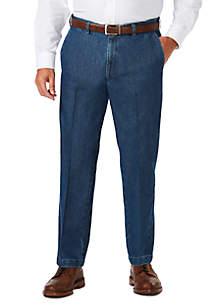 Haggar® Big & Tall Stretch Denim Classic Fit Flat Front Pants