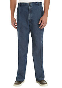 Haggar® Big & Tall Stretch Denim Classic Fit Pleated Pants
