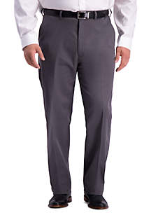 Haggar Big & Tall Work To Weekend PRO Relaxed Fit Flat Front Casual Pants