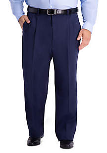 Haggar® Haggar Big & Tall Work To Weekend PRO Relaxed Fit Pleat Front Casual Pants