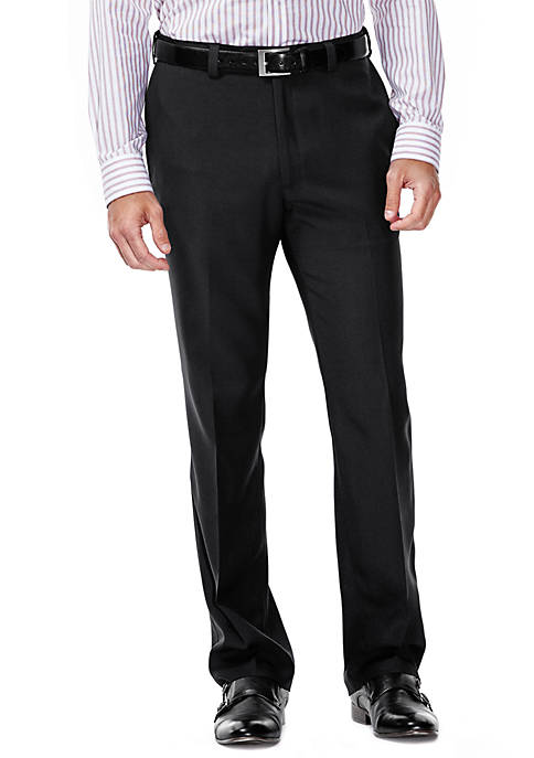 Haggar Classic Fit Flat Front Expandable Waist Dress Pants