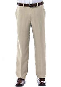 Classic Fit Flat Front Expandable Waist Dress Pants