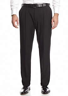 Classic Fit, Pleated, Expandable Waist Dress Pants