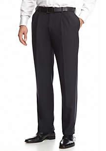 E-Clo Stria Classic Fit, Pleated, Expandable Waist Dress Pants
