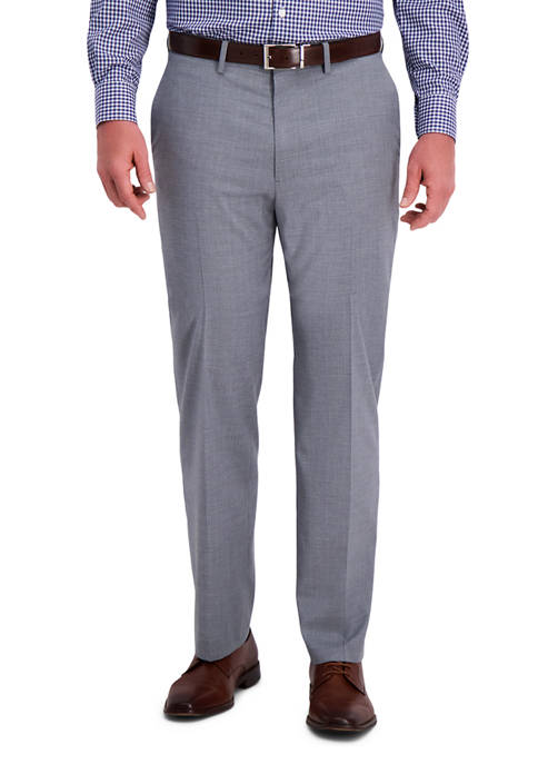 Haggar® Textured Plaid 4-Way Stretch Classic Fit Flat