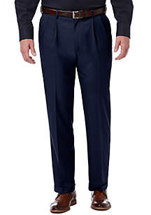 Haggar® Premium Comfort 4 Way Stretch Classic Fit Pleat Dress Pants